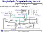 single cycle datapath during branch