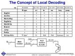 the concept of local decoding