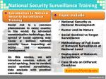 national security surveillance training