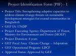 project identification form pif 1