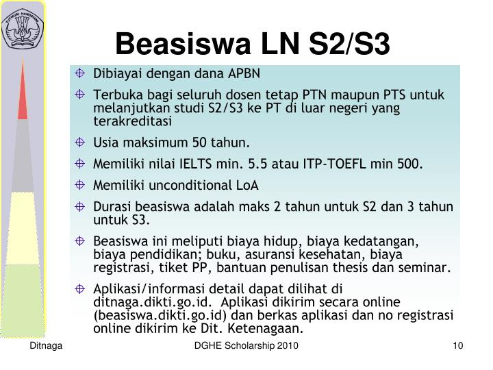 Beasiswa LN S2/S3