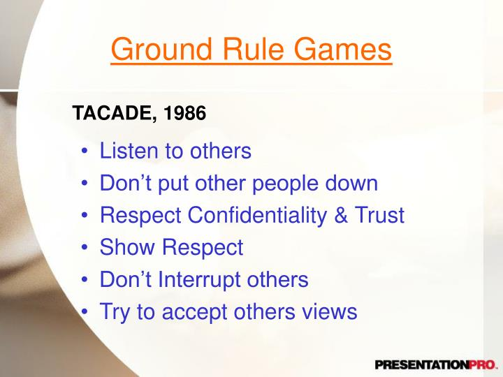 Ground Rule Games