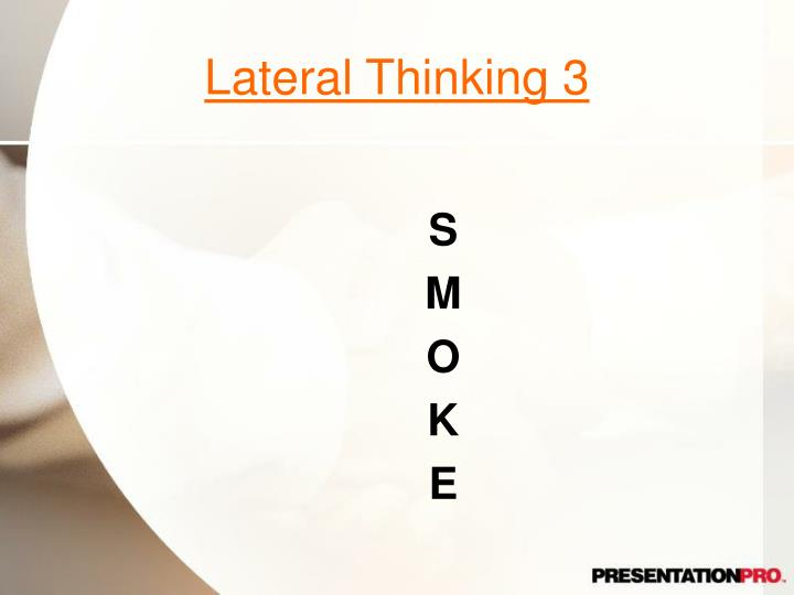 Lateral Thinking 3