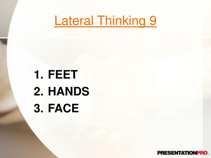 Lateral Thinking 9