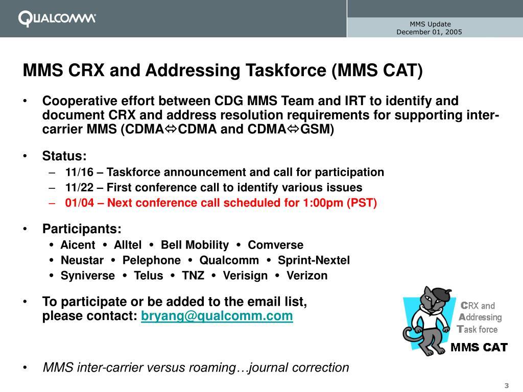 PPT - MMS Update CDG IRT – Las Vegas PowerPoint Presentation