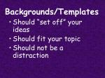 backgrounds templates