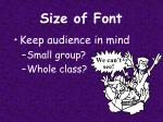 size of font1