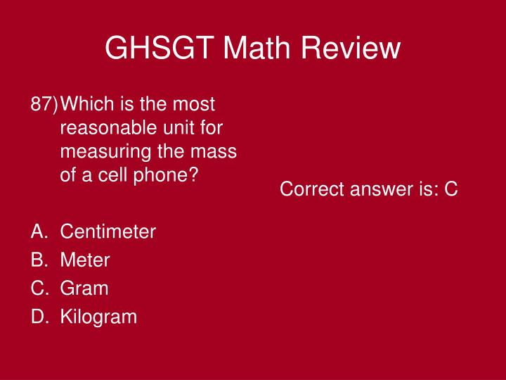 Which is the most reasonable unit for measuring the mass of a cell phone?