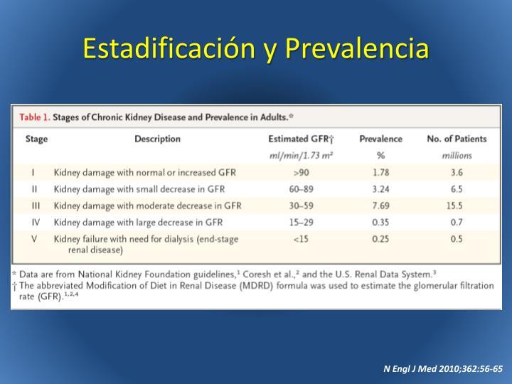 Estadificación y Prevalencia
