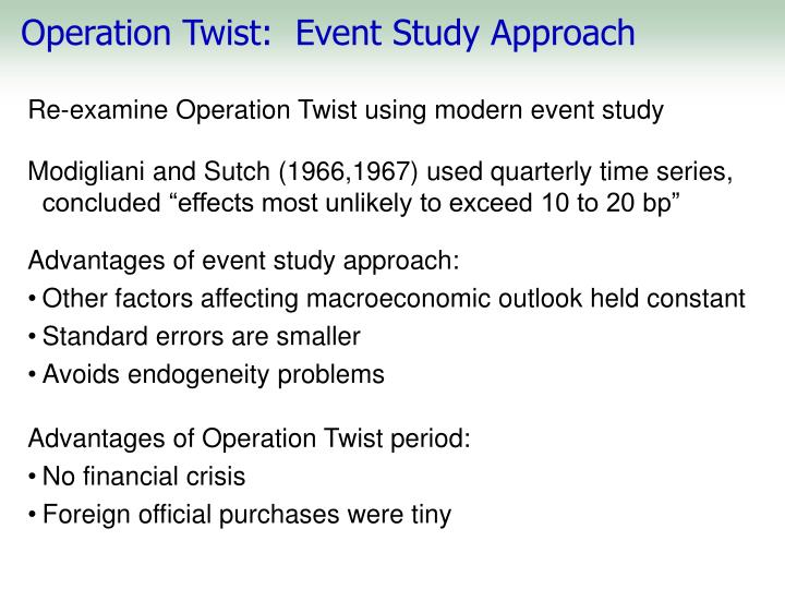 Operation Twist:  Event Study Approach