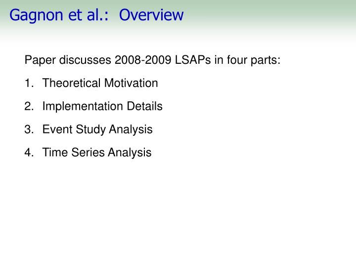 Gagnon et al.:  Overview
