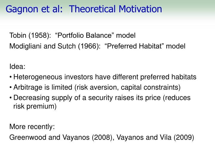 Gagnon et al:  Theoretical Motivation