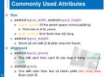 commonly used attributes