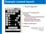 example nested layout