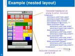 example nested layout1