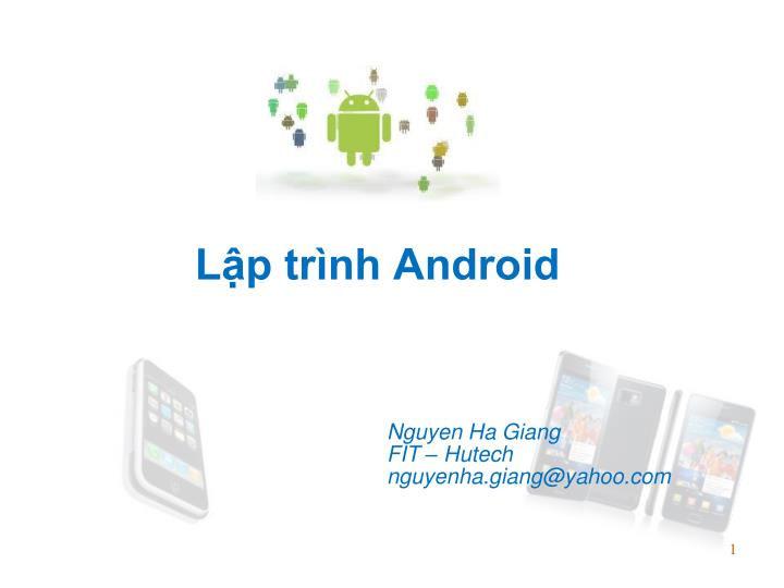 l p tr nh android