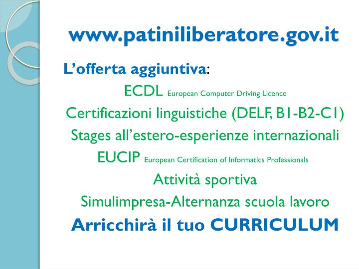 www.patiniliberatore.gov.it