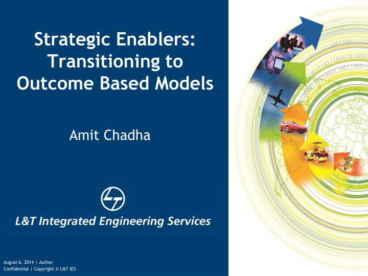 strategic enablers transitioning to outcome based models n.