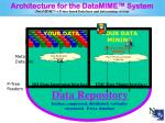 architecture for the datamime system datamime tm p tree based data base and data mining system