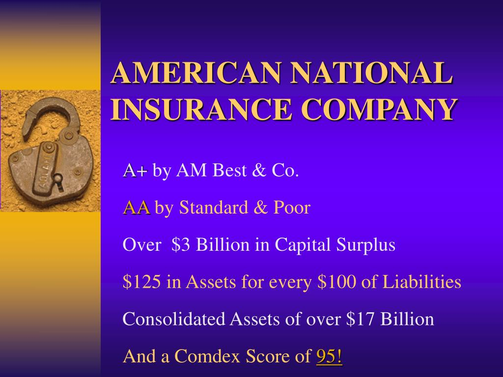 Ppt American National Insurance Company Powerpoint Presentation Free Download Id 2920195