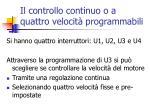 il controllo continuo o a quattro velocit programmabili