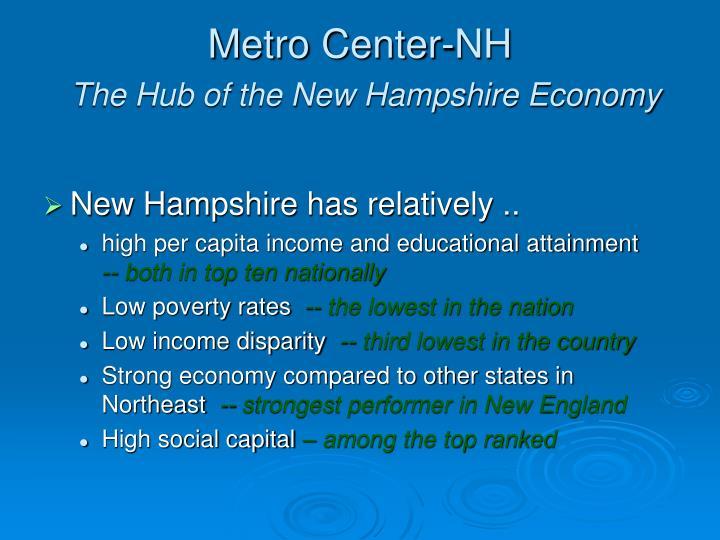 Metro center nh the hub of the new hampshire economy