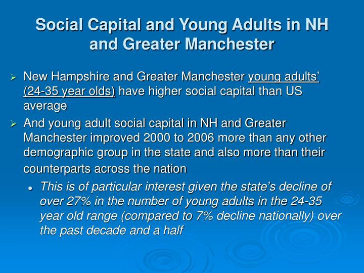 Social Capital and Young Adults in NH and Greater Manchester