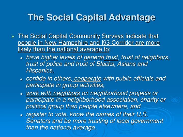 The Social Capital Advantage