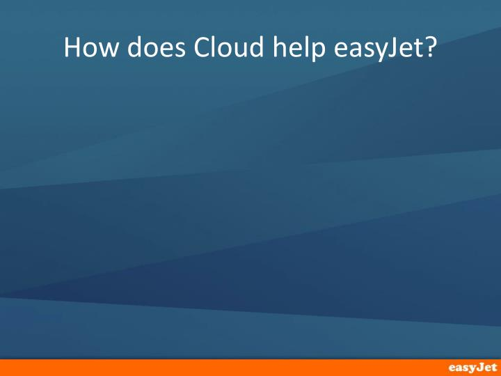 How does Cloud help easyJet?