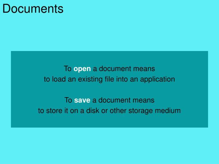 Documents