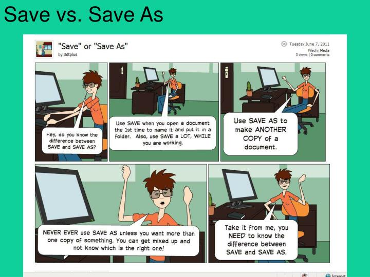 Save vs. Save As