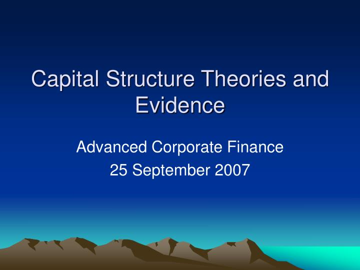 what type of capital structure should Aswath damodaran 3 the objective in decision making n in traditional corporate finance, the objective in decision making is to maximize the value of the firm  n a narrower objective is to maximize stockholder wealth.
