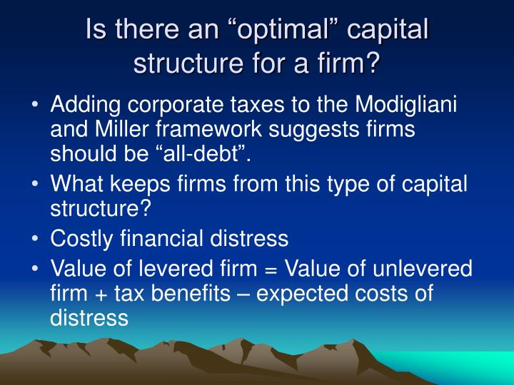 capital structure of a firm essay Capital structure: meaning: – capital structure of a firm is a reflection of the overall investment and financing strategy of the firm – capital structure can be.