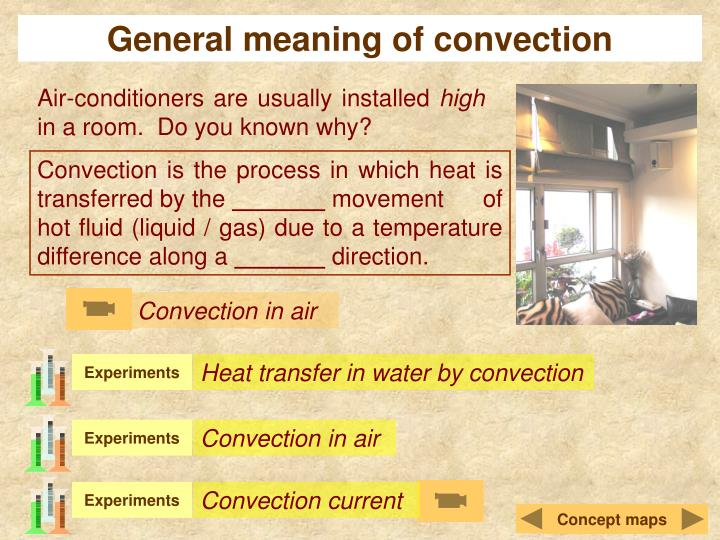General meaning of convection