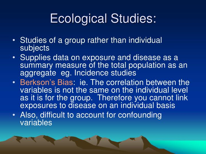 Ecological Studies: