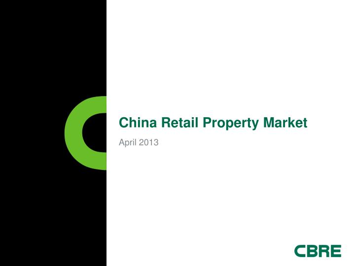 china retail property market n.