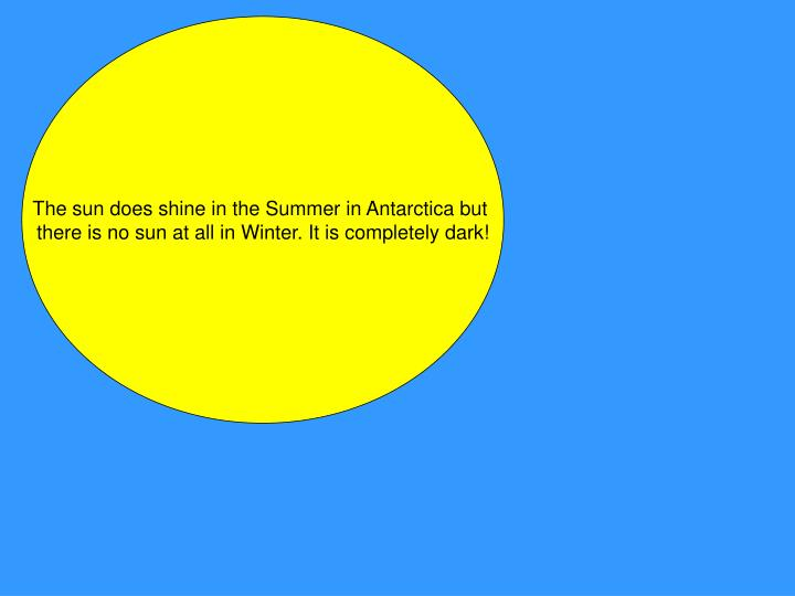 The sun does shine in the Summer in Antarctica but