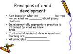 principles of child development