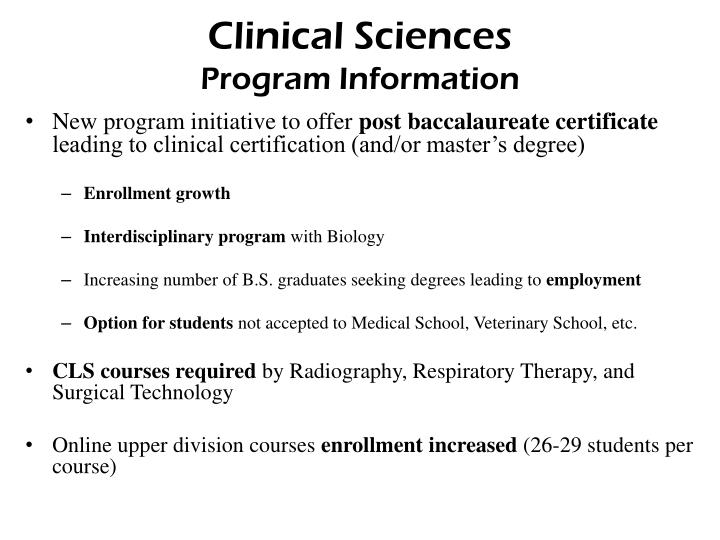 Clinical Sciences