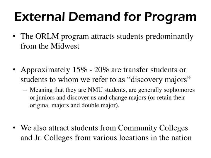 External Demand for Program