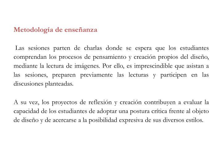 Metodología de enseñanza