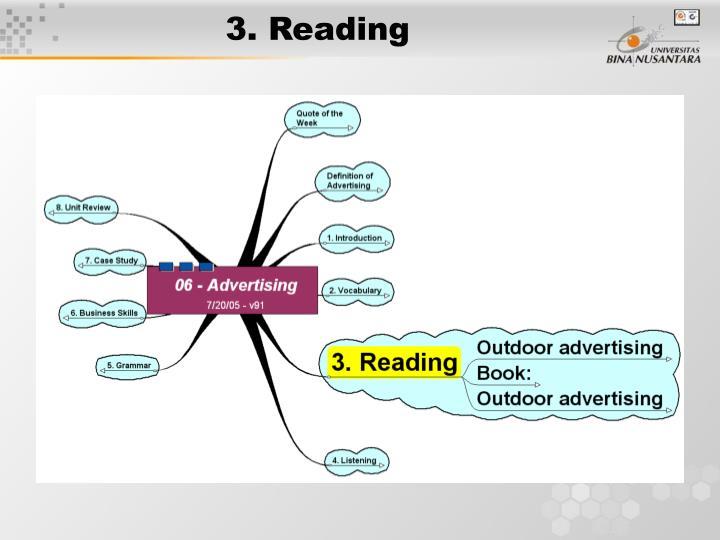 3. Reading