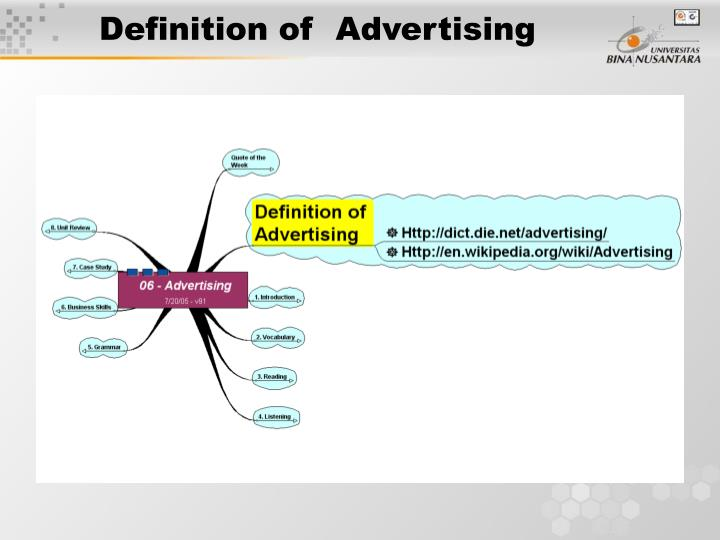 Definition of  Advertising