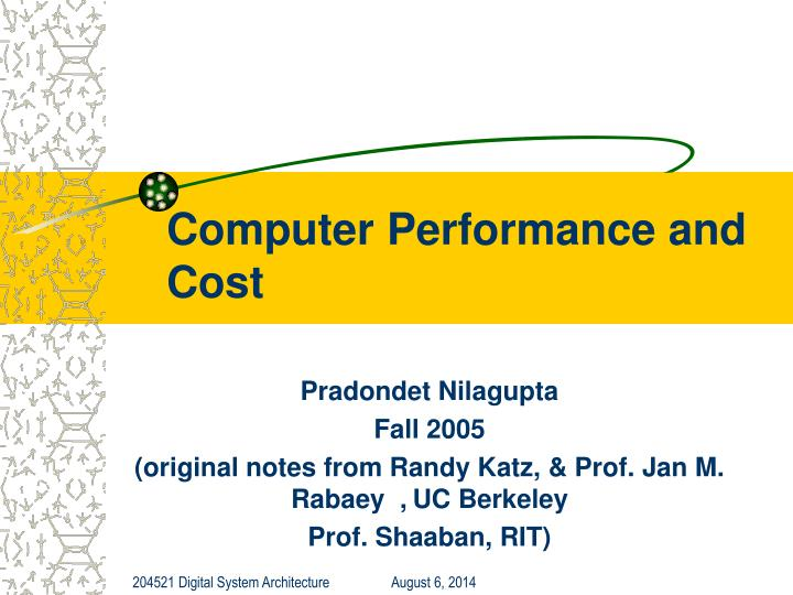 computer performance and cost n.