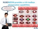 nubo media provides a rich toolbox of innovative capabilities