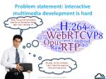 problem statement i nteractive multimedia development is hard