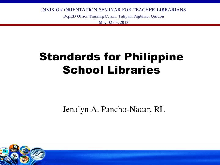 standards for philippine school libraries n.