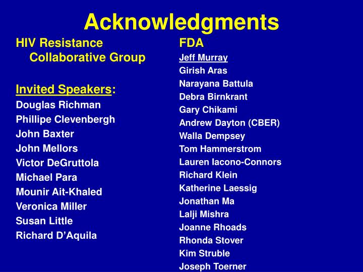 HIV Resistance Collaborative Group