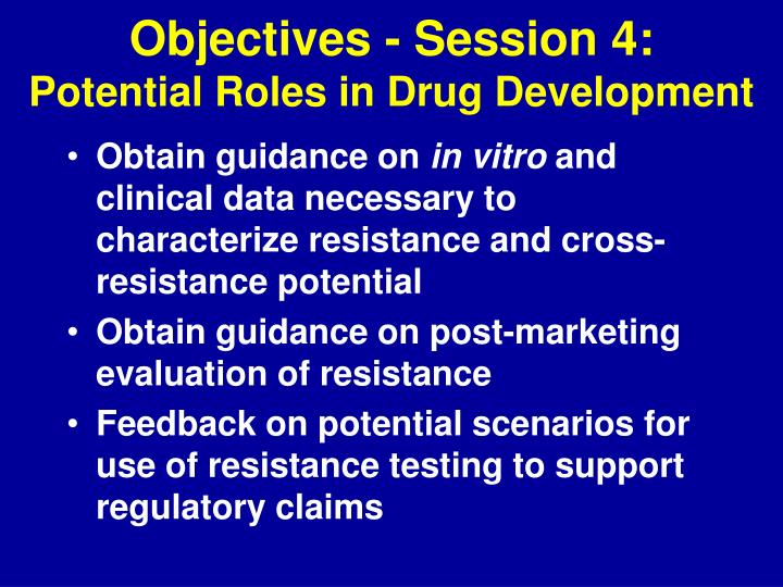 Objectives - Session 4: