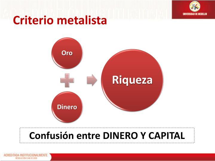 Criterio metalista